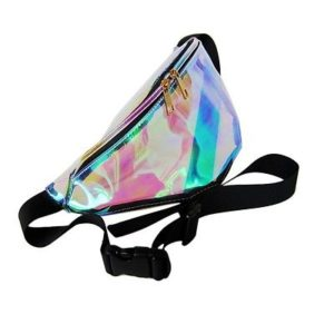 Transparent Rainbow Hologram Fanny Pack