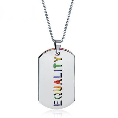 Gender Equality Tag Necklace