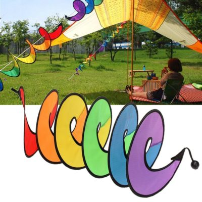 Rainbow Outdoor Spiral Wind Spinner